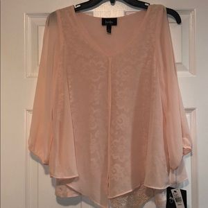 By & By light pink blouse w/ split sleeves size:S